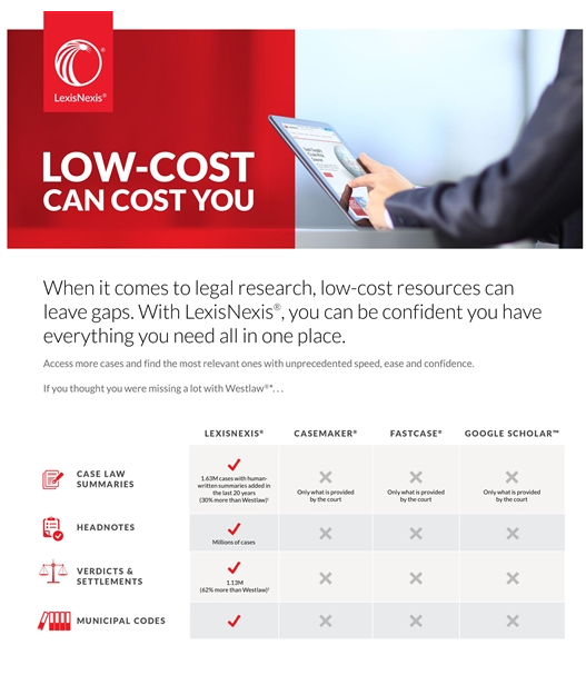 in lexisnexis comes out swinging against lower cost legal research services the lawyerists lisa needham makes a perceptive observation what lexisnexis